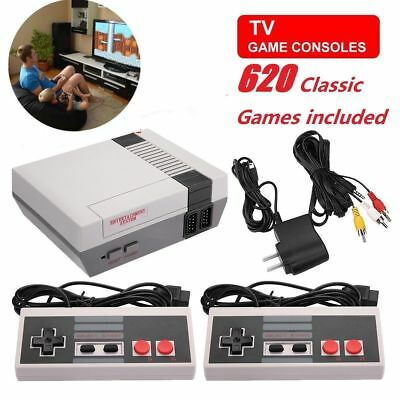 Vintage Retro TV Game Console Classic 620 Built-in Games with 2 Controllers NEW