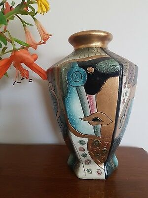 Picasso Inspired Ceramic Vase - Pottery - Cubist - 30's Art Deco