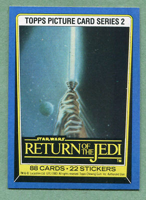 1983 Topps Star Wars Return Of The Jedi Series 2 88 Card Set Complete & Wrappers