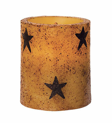 Mozlly CWI Gifts Star Flameless Rustic LED Pillar Candle (Multipack of 3) Home D