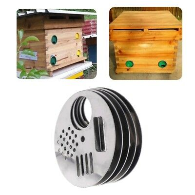 5Pcs Bee Stainless Steel Box Door Cage Round Hive Hole Beekeeping Nest Equipment