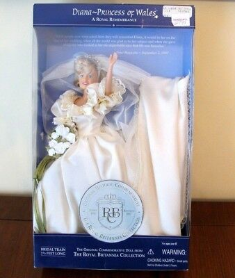 Princess Diana Royal Wedding Dress Gown doll in box, 1997 Britannia Collection