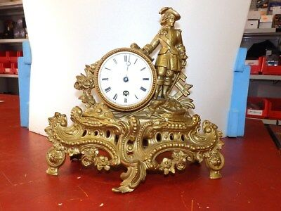 Antik French Mantel  Clock   Around 1900 For Parts Or Restauration