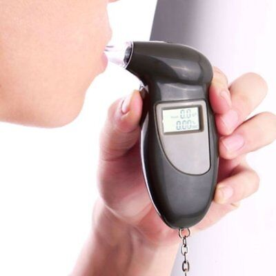 Digital Alcohol Breath Tester*Breathalyzer Analyzer Detector Test Keychain WS