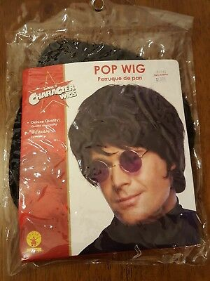 RUBIE'S CHARACTER WIGS - Men's Black Pop Star Wig 1960's 1970's Costume