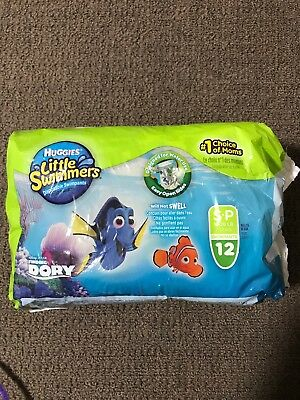 Huggies Little Swimmers Swimpants Small 7-12kg 12 Pack Water Disposable Nappies