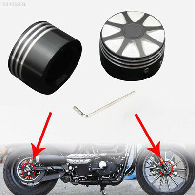 E8C0 1Pair Smooth Front Axle Nut Covers For Harley XL883 XL1200 X48 Models Touri