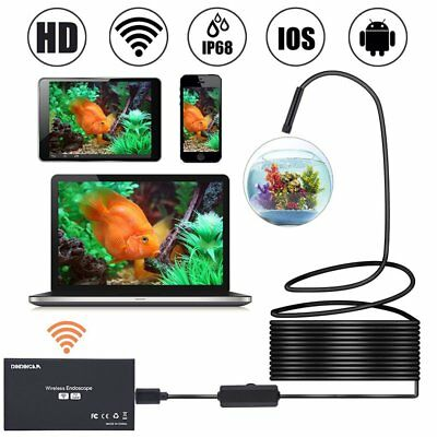 8mm 8 LED Wireless Endoscope WiFi Borescope Inspection Camera for IOS Android
