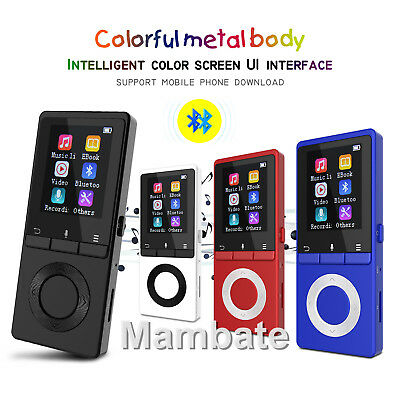 Liefern Mp3 Player Mit Bluetooth Lautsprecher Metall 2.4in Bildschirm 16g Tragbare Hifi Mp3 Walkman Musik-player Mit Fm Radio Ebook Bis Zu 128 Gb Mp3-player