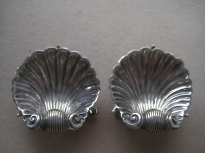 Set of Two Dolphin Feet Shell Silver Plated Salts, 341TOVOCT18