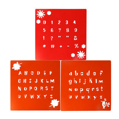 number letter symbol layering stencils spray template wall drawing card decor  X