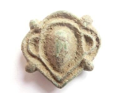Intact IRON AGE Hallstatt Culture ANCIENT Celtic DRUID Bronze AMULET / TALISMAN