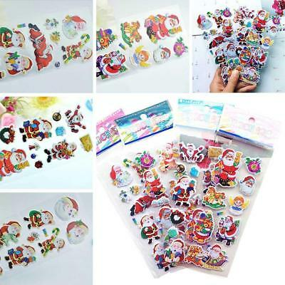 3D Puffy Bubble Stickers Scrapbook Xmas Santa Claus Birthday Gift Collection