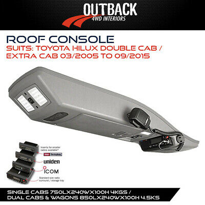 Roof Console To Suit Toyota Hilux Double Cab / Extra Cab 03/05-09/15