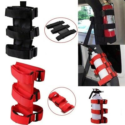 2pcs Car Fire-Extinguisher Fixing Holder Belt for Automobile Jeep Wrangler WE9X