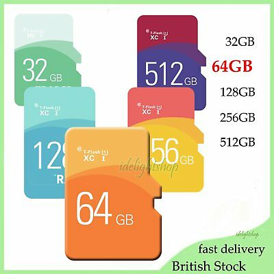 TF Flash Memory Storage Card SD Card + Free Adapter 64GB For Mobile Phone Tablet