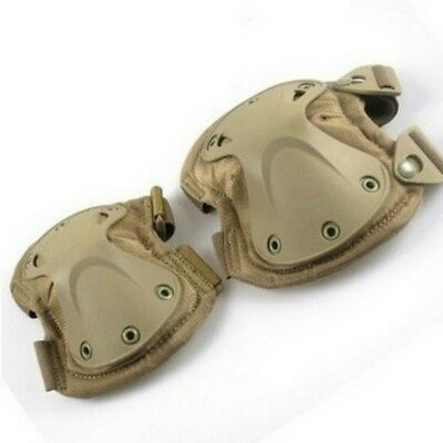 Durable 2*Tactical Knee+2*Elbow Protector Pads Set Nylon Adjustable Fastener WE9