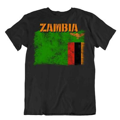 Zambia flag Tshirt T-shirt Tee top city map natural resources mineral wealth