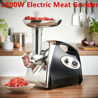 Heavy Duty Commercial Grade 1HP Electric Meat Grinder 2800W Stainless Steel HM