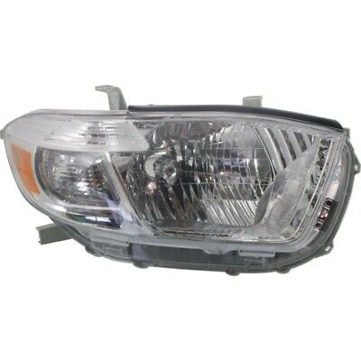 New Head Lamp Assembly Fits 2008-2010 Toyota Highlander Front Rh To2503176C Capa