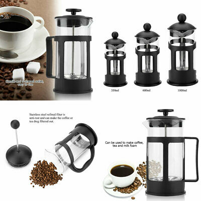 350/800/1000ml Stainless Steel Glass Tea Coffee Cup french Plunger Press Maker M
