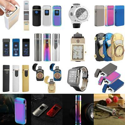 USB Electric 2 Arc Flameless Torch Rechargeable Windproof Cigarettes Lighter M
