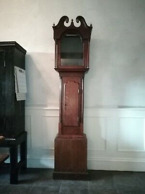 Oak And Mahogany Longcase / Grandfather Clock Case Only