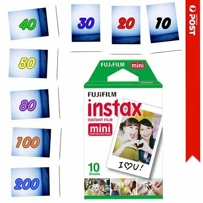 Fujifilm Instax Mini Instant Film for White Fuji Mini 8 9 90 70 25 300 AU