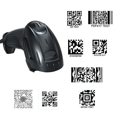 2D QR Code Handheld Barcode Scanner Reader for 8 codes QR Date Matrix