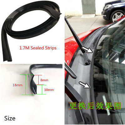 Car Front Windshield Panel Ageing Rubber Seal Trim Moulding Strip Sealed 1.8m