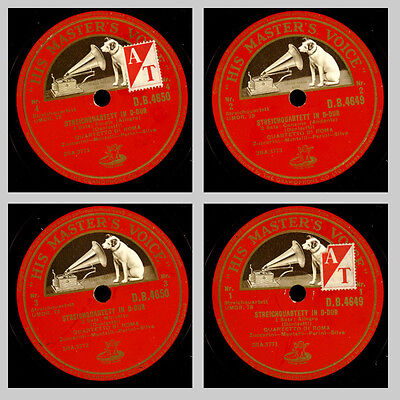 QUARTETTO DI ROMA Donizetti: Streichquartett in D-Dur, Chamber-Music 78rpm GS376