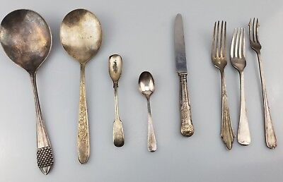~ CC ~ Vintage ~ Mixed ~ Job ~ Lot ~ Silver ~ Plated ~ Cutlery ~ Various ~ #8 ~