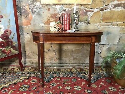 Antique Georgian Fold Over Card/Games/Occasional Table~Mahogany.c1840