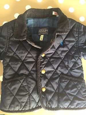 Baby Boy Joules Milford Quilted Coat 6-9 Months