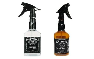 Just Water Barber Spray Bottle - Retro Style Style Old No 1 - Amber or Clear