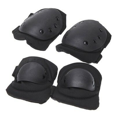 5X(4Pcs Outdoor Adults Sports  Knee Elbow Protective Pads Skating Skiing Cl O4G1