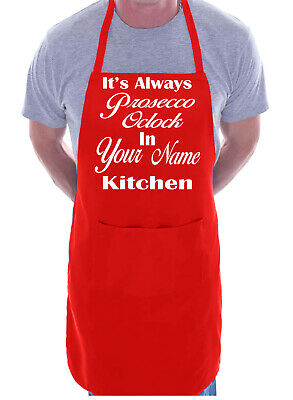 It/'s Prosecco O/'Clock Funny BBQ Cooking Novelty Apron