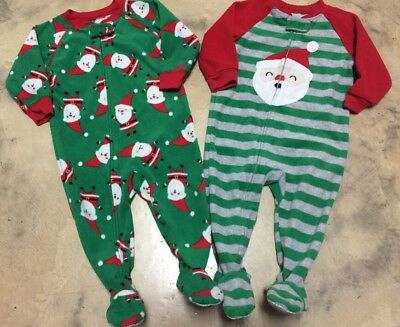132de1b06099 CARTERS BABY BOYS Size 12 month Pajamas Sleeper Lot Footed Fleece ...