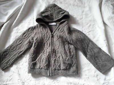 Little White Company baby boy's /toddlers lambswool cardigan. Age 18 - 24 months
