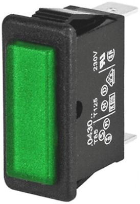 NEON INDICATOR, GREEN, 230v, 2832 x 11.5mm MOUNTING HOLE (ref.A2.01.06))