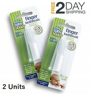 Finger Toothbrush Baby Mouth Cleanser Tooth Cleaner for Babies 2 Units