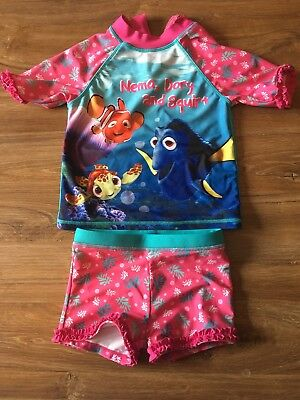 Girls 2 Piece Swim Suit 18-24 Months Finding Dory Nemo