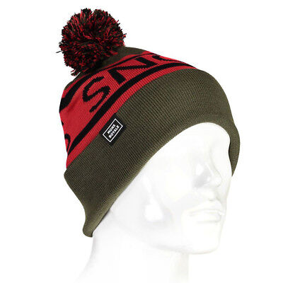 Mons Royale Unisex Pom-Pom Beanie Green Sports Outdoors Warm Breathable