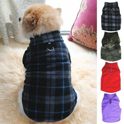 Pet Dog Jacket Coat Fleece Sweater Thicken Warmer Puppy Vest Costume Harness NEW
