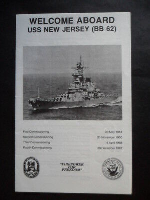 United States Navy USS NEW JERSEY Welcome aboard 1980's