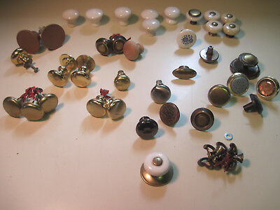 pile of 40 ? cabinet drawer knobs repurpose, crafts, actual handles