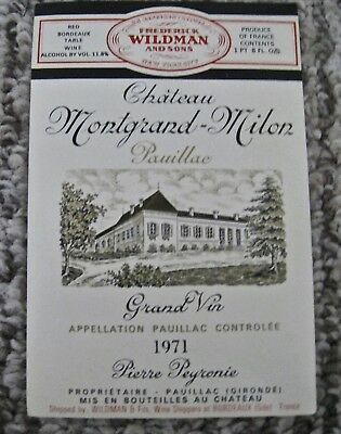 Vintage Lot 5 California and French Wine Labels Assorted
