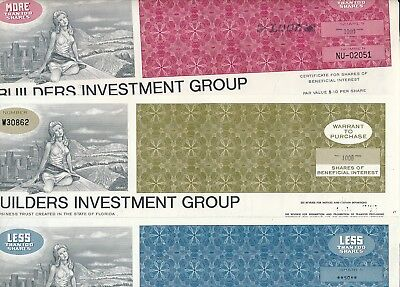 Lot: 3 x Builders Investment Group