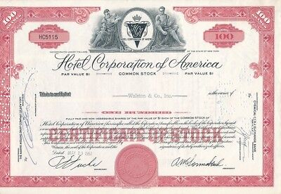 Hotel Corporation of America, HC5115, 29.5.1957, 100 Shares, HOTELS