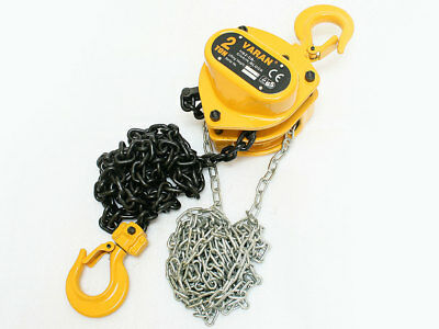2 Ton Mechanics Chain Lift Block Hoist Engine Tackle Heavy Duty Lifting Pulley